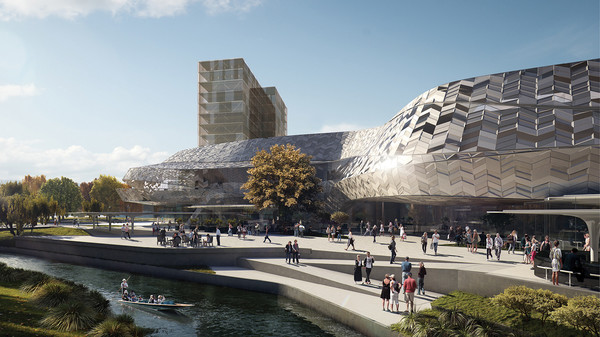 A proposed design for the Convention Centre